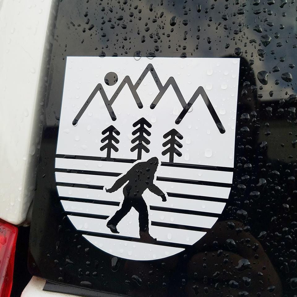 Sasquatch Diecut Sticker - White