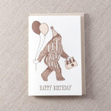 Birthday Sasquatch Card
