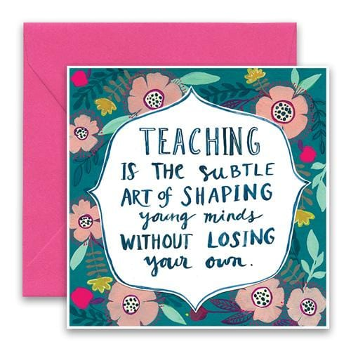 Shaping Young Minds Greeting Card