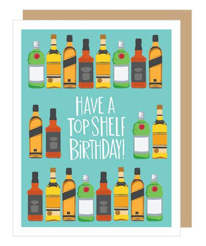 New Top Shelf Birthday Card