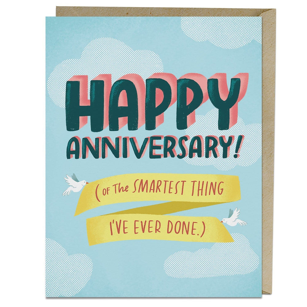 Smartest Things Anniversary Card