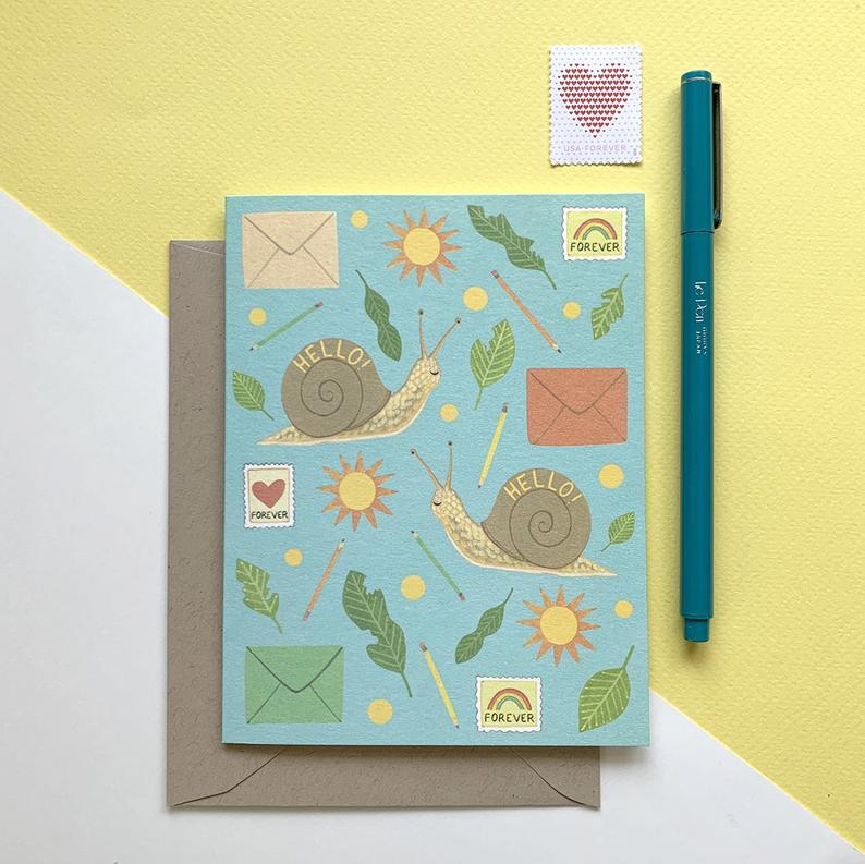 Snail Mail Hello Card