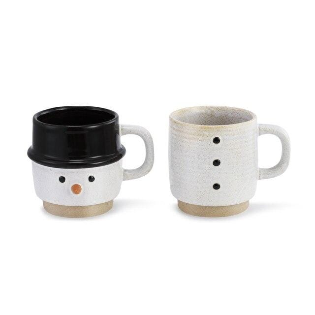 Snowman Stacked Mugs - Set of 2