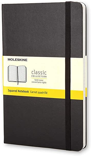 Moleskine Squared Classic Pocket Notebook - Hard Cover