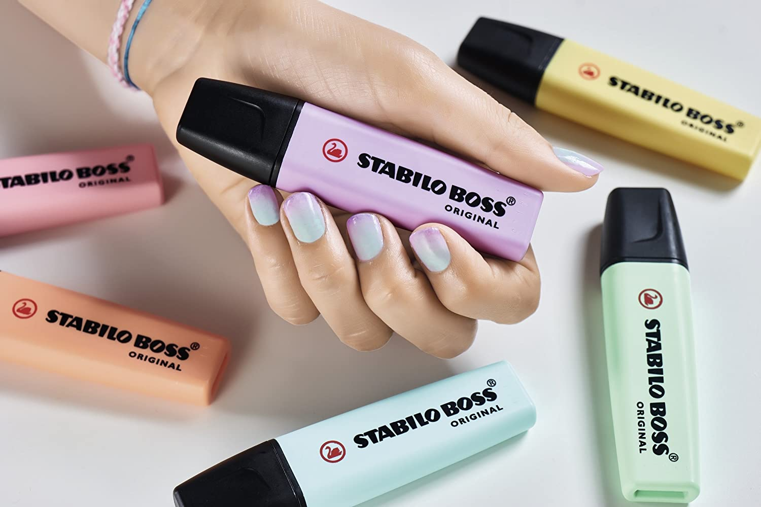 Stabilo Boss Highlighters Set, 8 Colors, Pastel