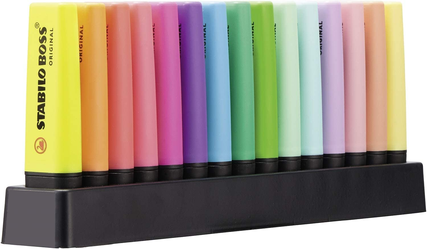 Stabilo Boss Highlighters Desk Set, 15 Colors