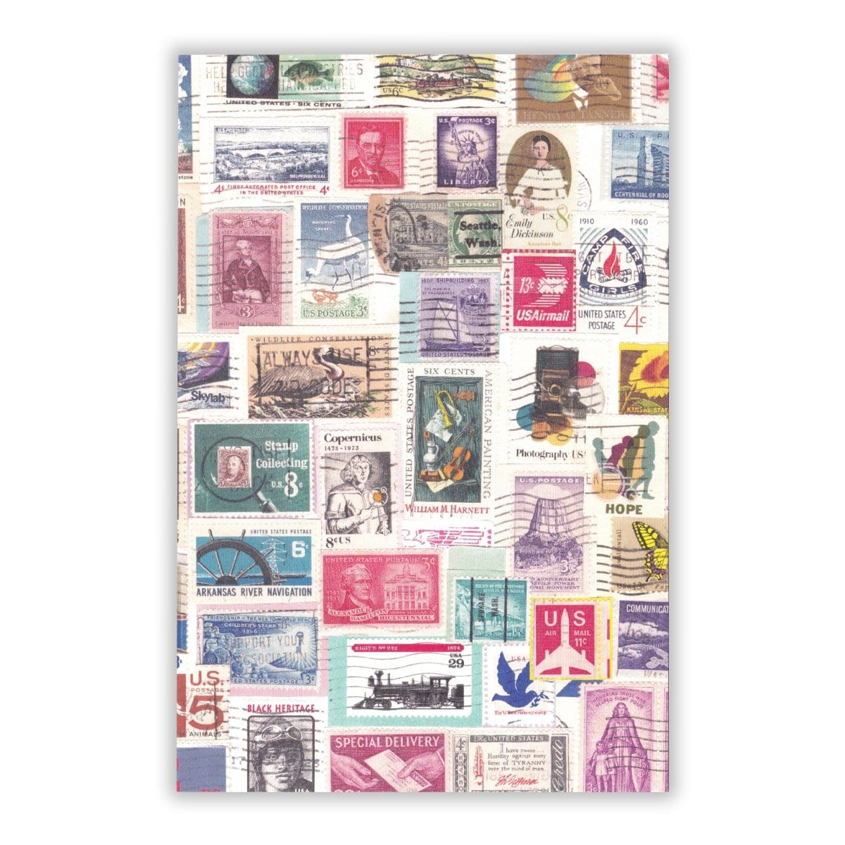 Stamp Collage Postcard