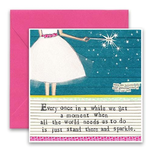 Stand and Sparkle Greeting Card