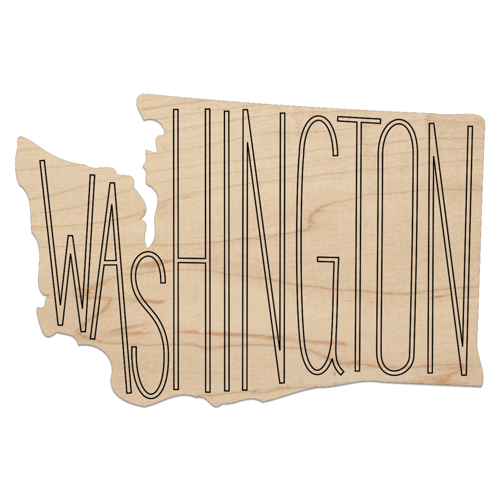 Laser Cut Wood Washington Coasters
