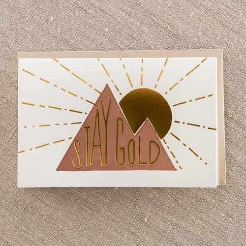 Stay Gold Card