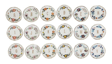 Hand-Painted Monogram Plate - 18 Styles