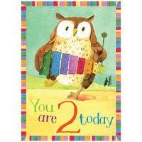 Sweet Owl 2 Birthday Card