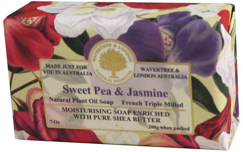 Wavertree & London Bar Soap 7oz - Sweet Pea & Jasmine