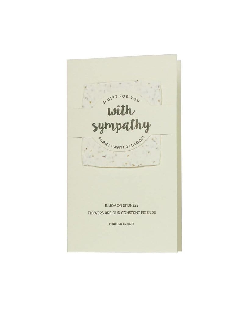 With Sympathy Wildflower Mix Card