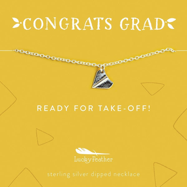 Congrats Grad - Ready for Takeoff Necklace