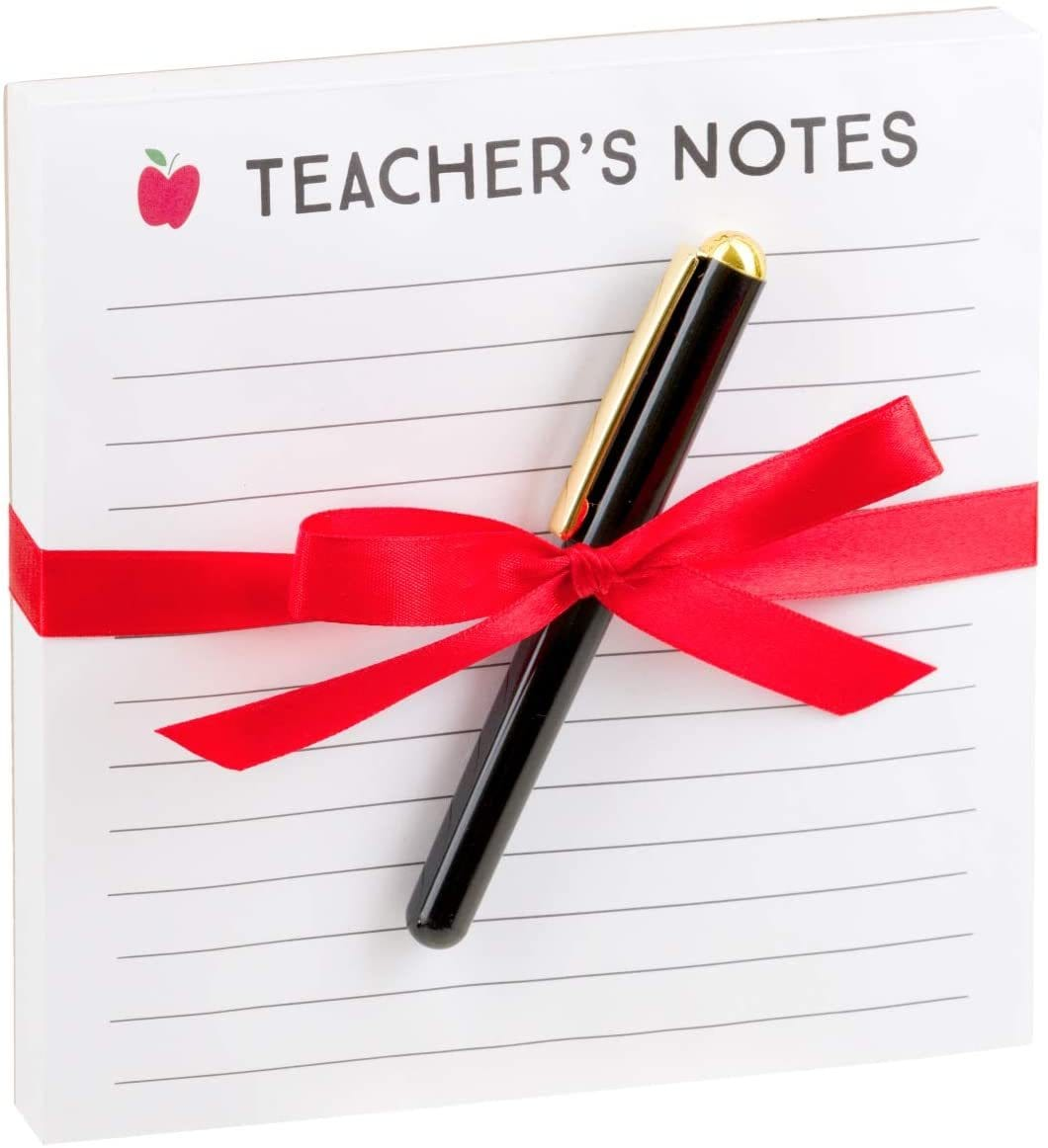 """Teacher Notes"" Notepad and Pen"