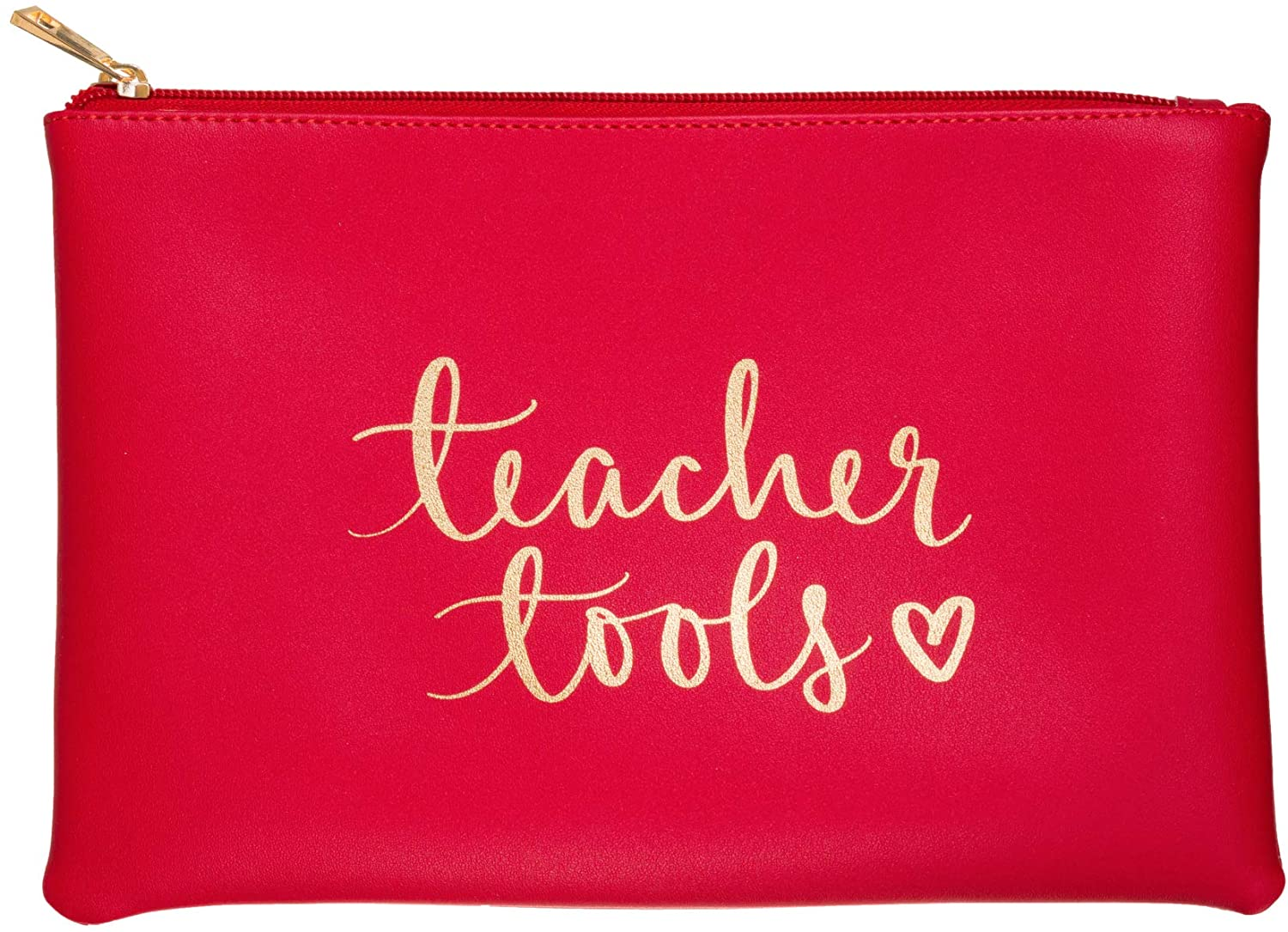 """Teacher Tools"" Zippered Stationary Pouch & Accessory Case"