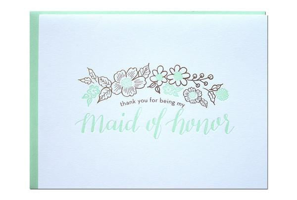 Thank you for being my Maid of Honor Card Parrot Design