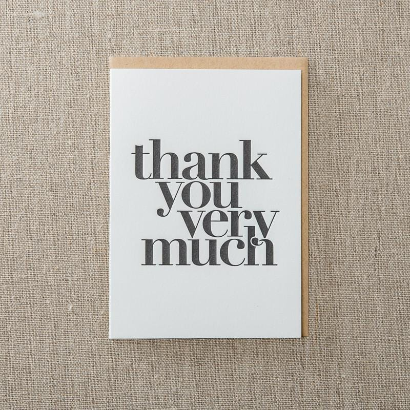 Thank You Very Much Card Set of 6
