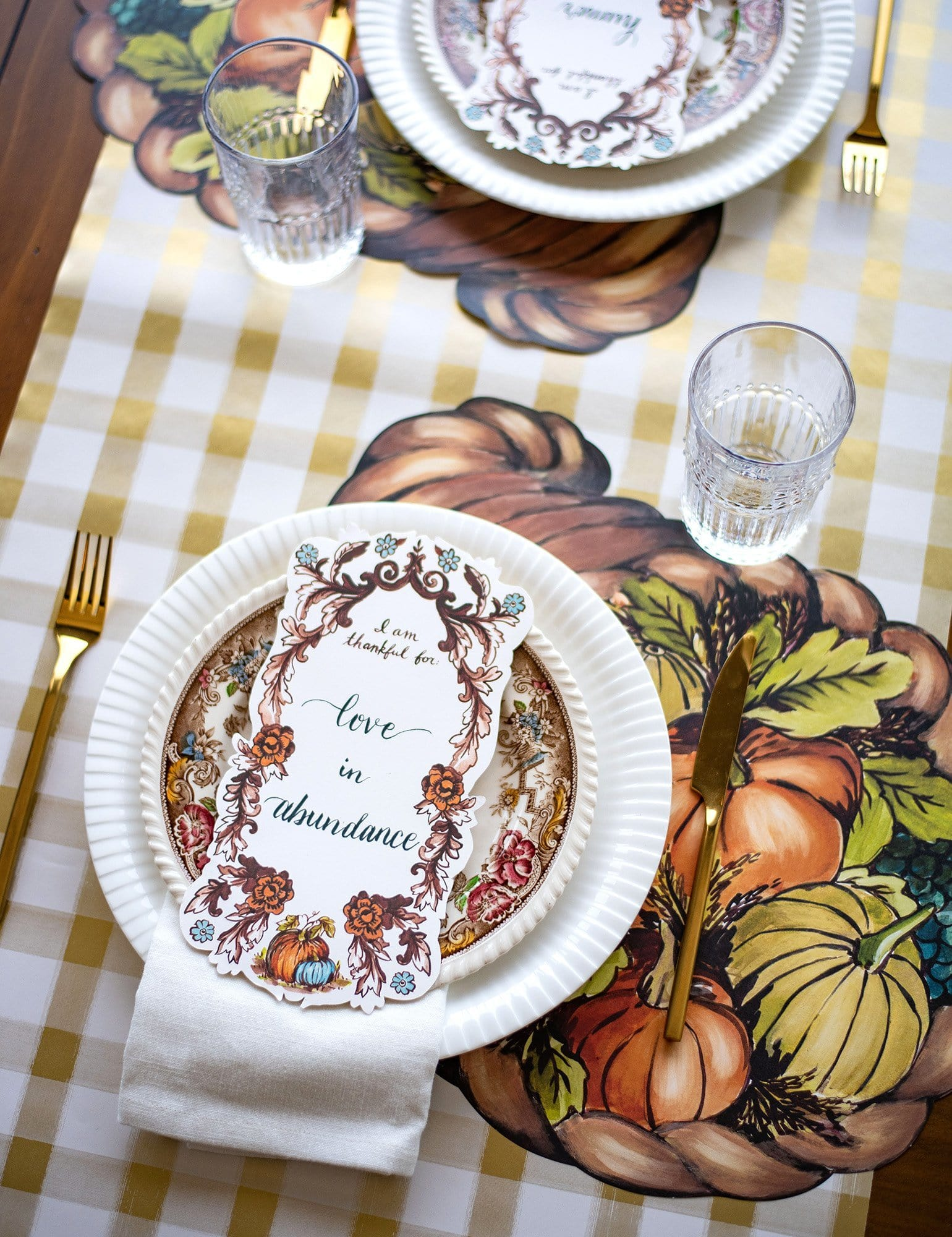 """I Am Thankful For"" Table Accent"