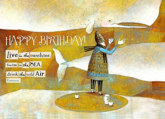 The Wild Air Birthday Card