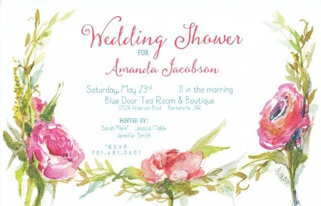 Ticket Blossoms Blank Invitations