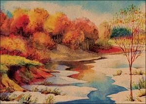 Autumn Scene Card