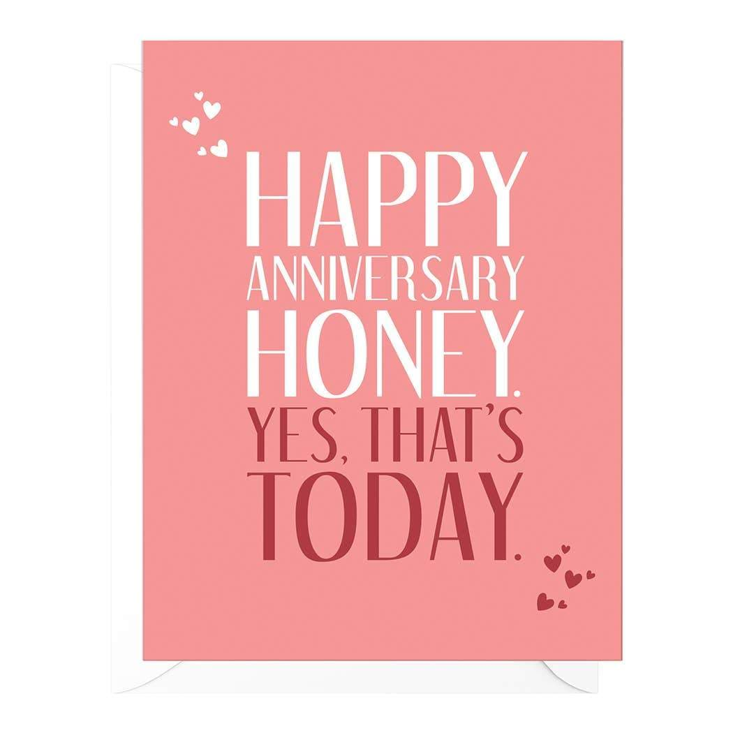 Today Funny Anniversary Card