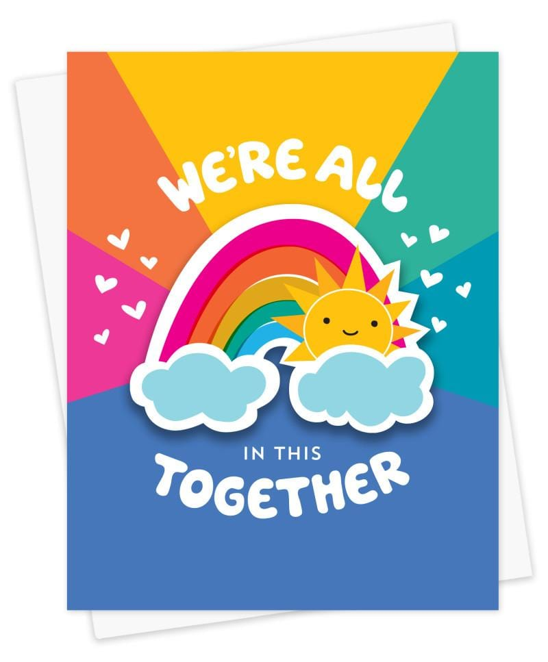 We're All in This Together Rainbow Sticker Card