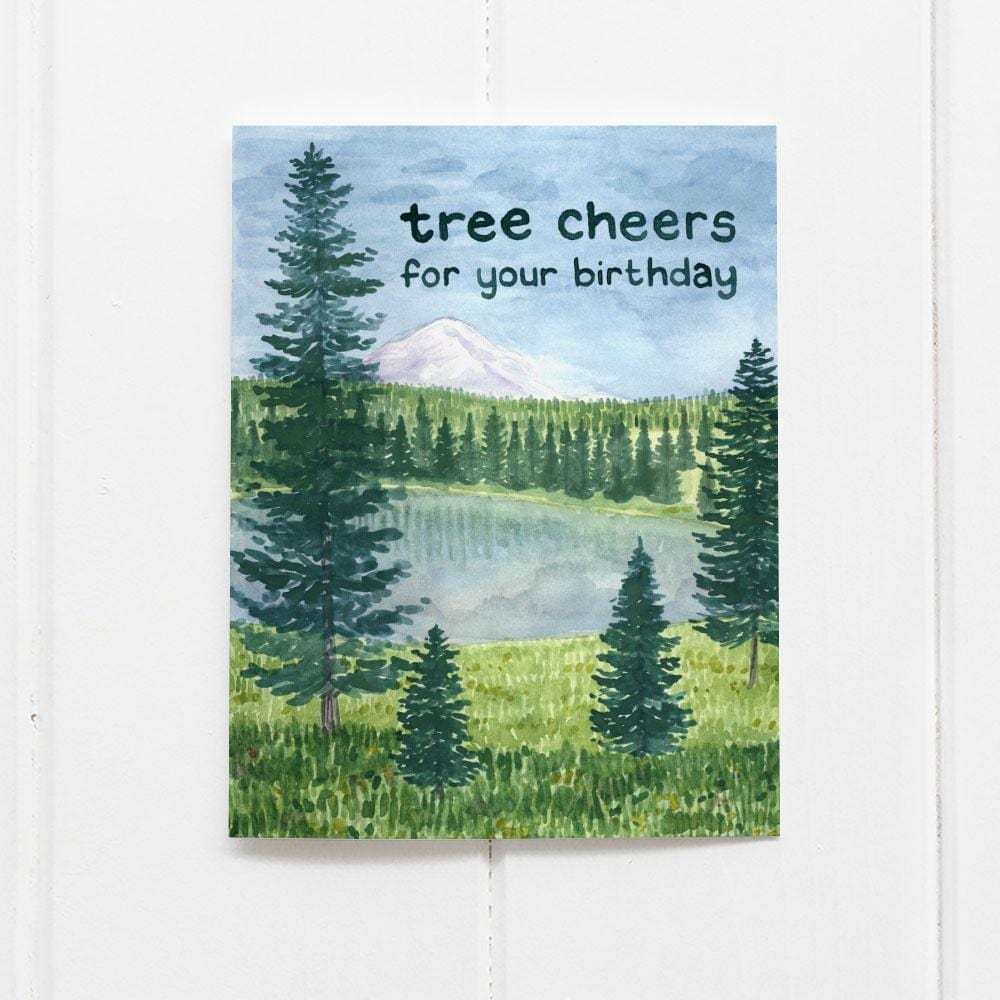 Tree Cheers Birthday Card