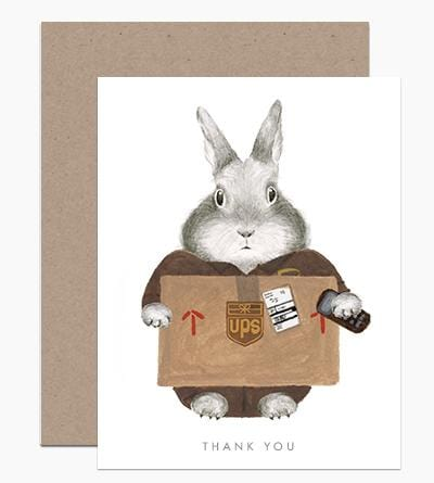 Essential Worker - UPS Bunny Card