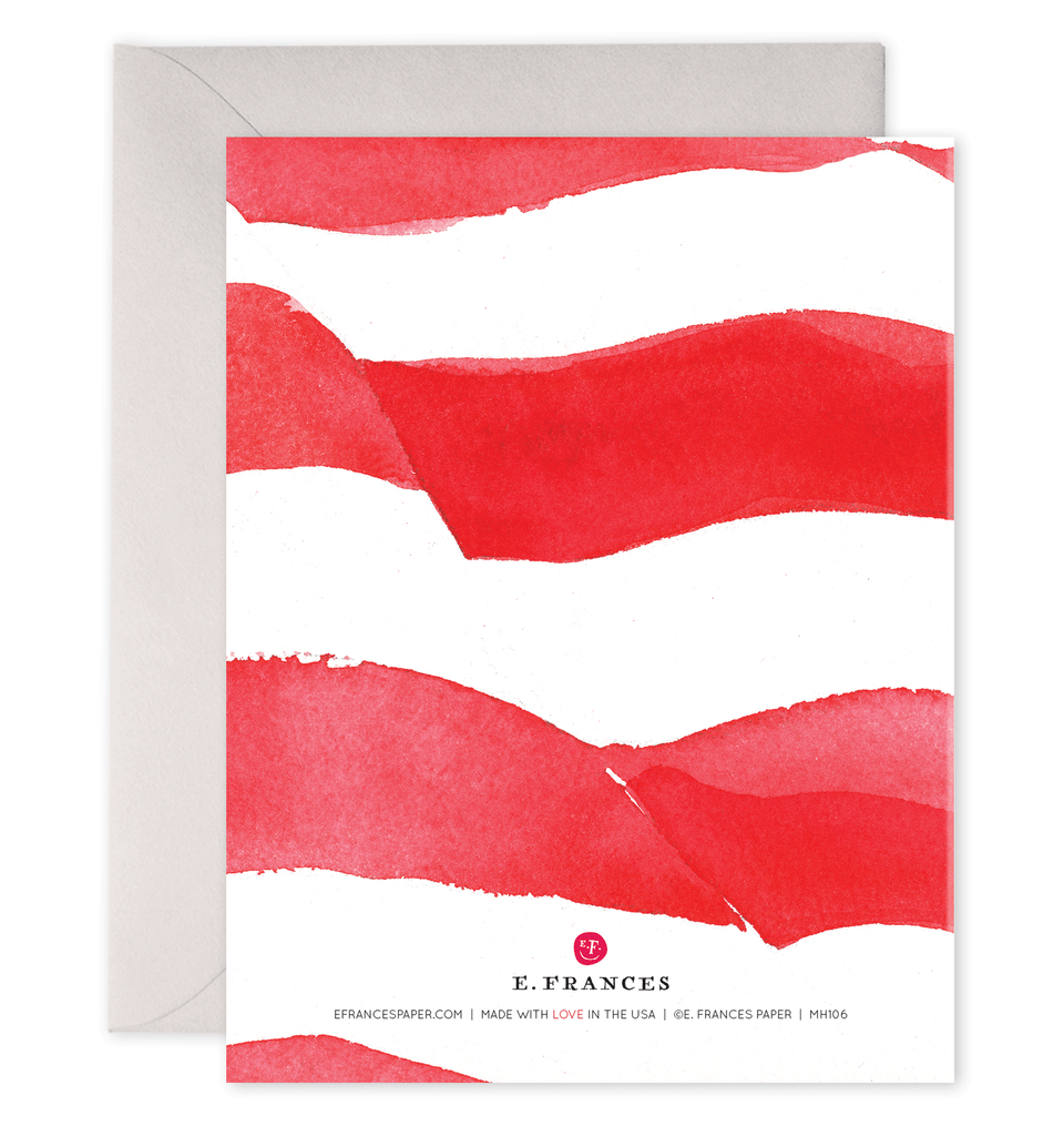 Veteran's Flag Thank You Card