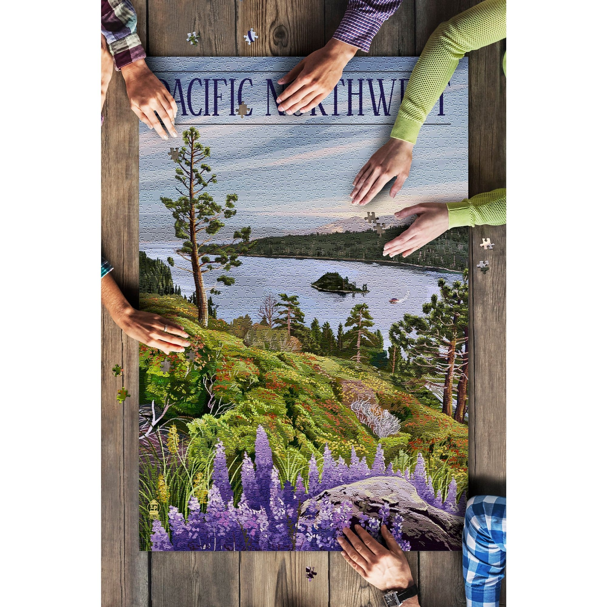 Pacific Northwest, View of Sound 1000 Piece Puzzle