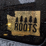 Washington Roots Diecut Sticker - Gold Foil