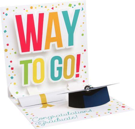 Way To Go! Graduation Pop-Up Card