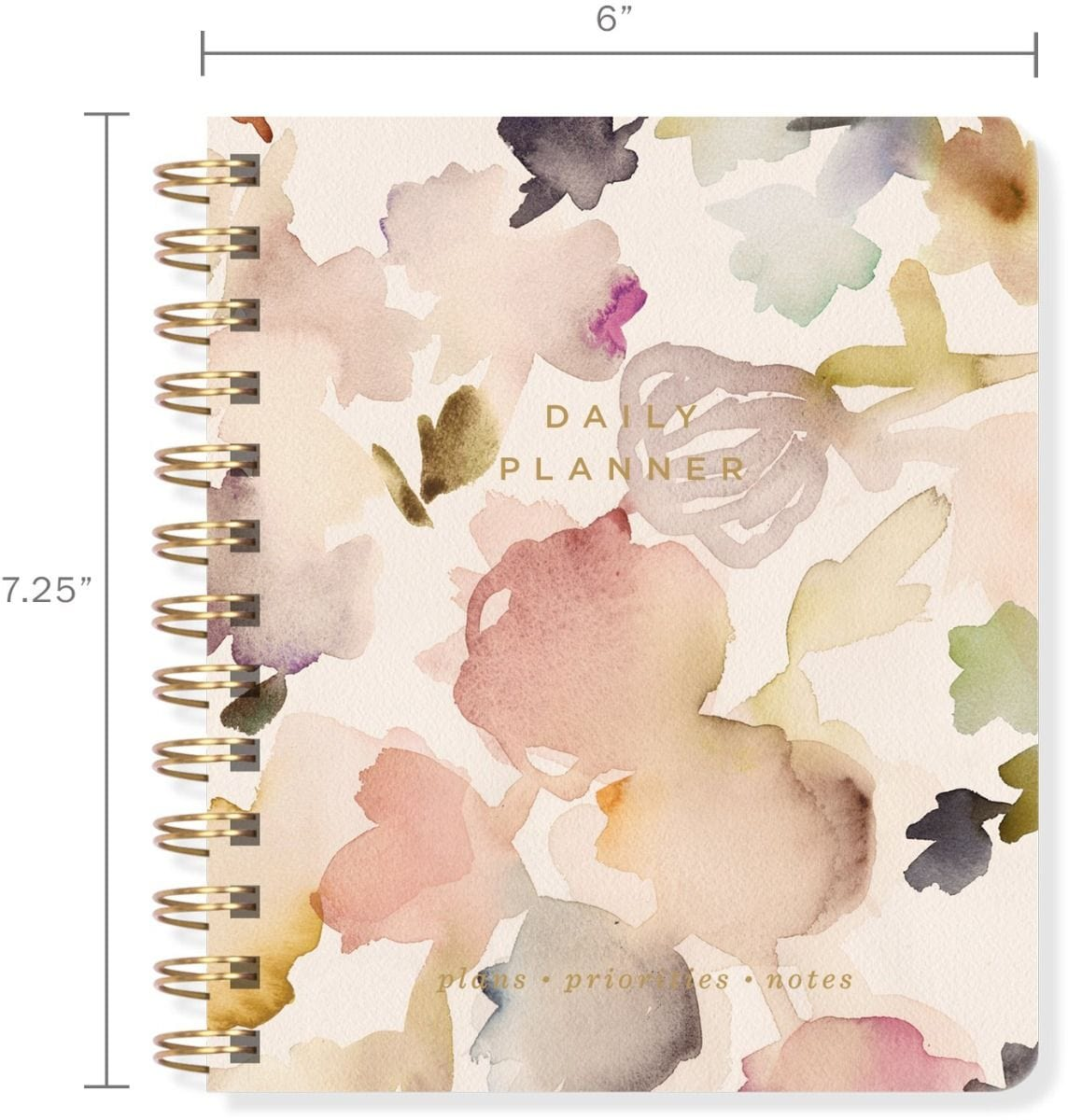 Floral Non-Dated Daily Planner