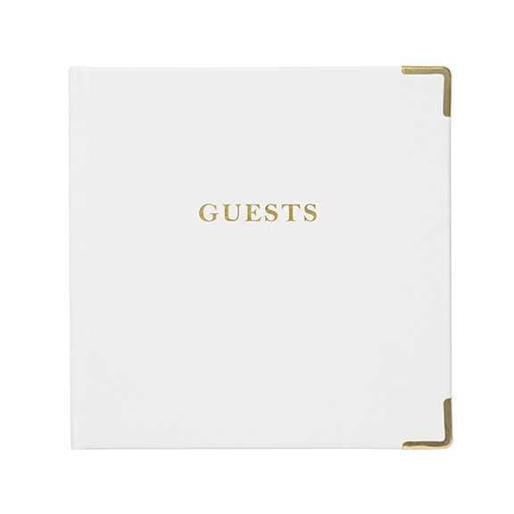 Deluxe White Wedding Guest Book