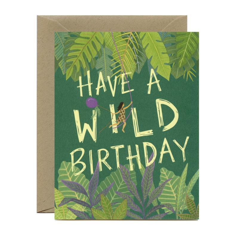 Wild Birthday Girl Card