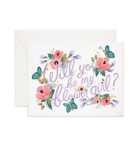 Will you be my flower girl card rifle paper co