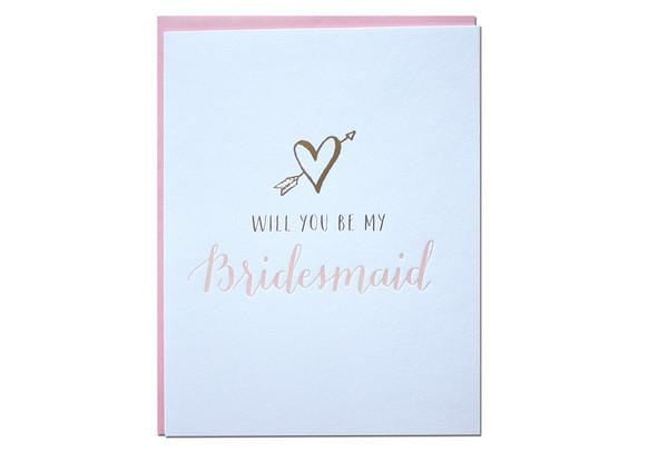 Will you be my bridesmaid card parrott design
