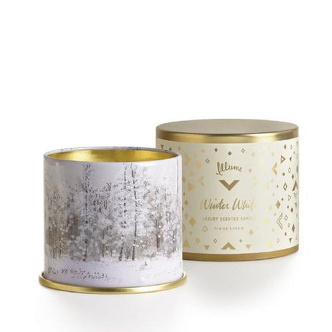 Winter White Large Tin Candle