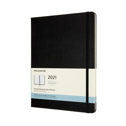 Moleskine XL Monthly Notebook, 7.5 x 9.25