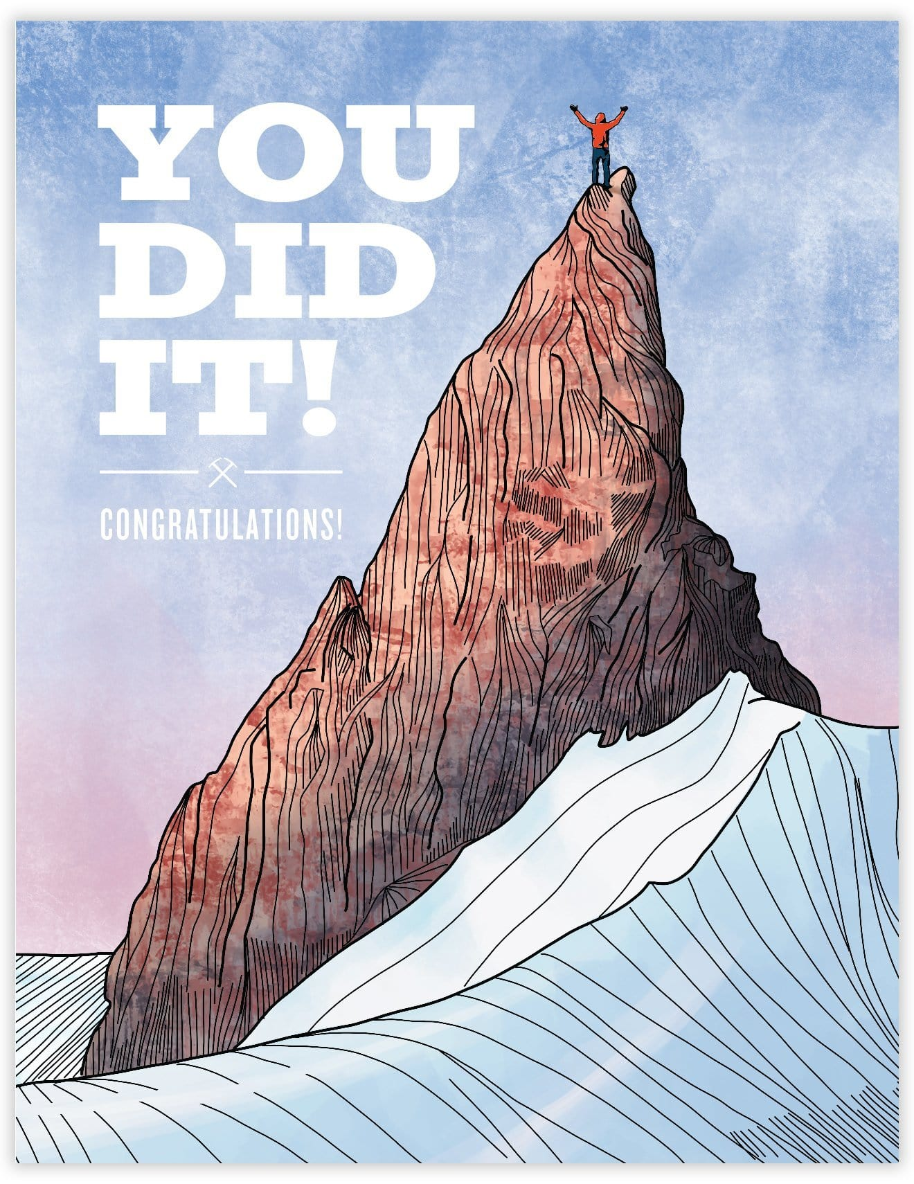 You Did It! Congratulations! Card