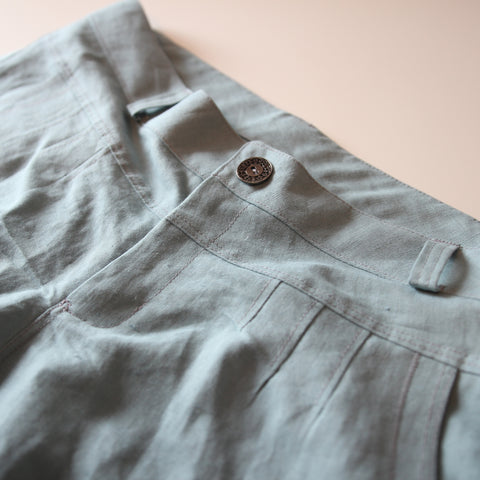 made to measure pants linen blue ZOK patterns