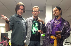 Matt Mercer, Liam O'Brien and Gil (cosplaying as the one and only glorious Gilmore) as posted on Matt's twitter