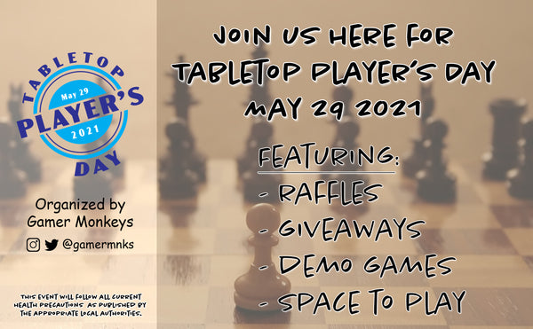 Tabletop Player's Day half size flyer