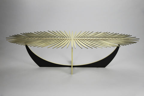 DOUBLE FROND COFFEE TABLE - BRASS