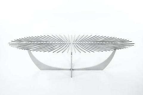 DOUBLE FROND COFFEE TABLE - Silver