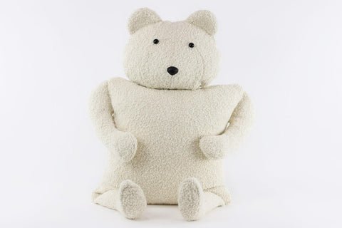 Polar Bear Buddy Throw Pillow