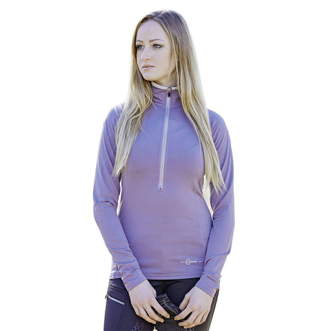 Covalliero Ladies Long Sleeve Winter Shirt / Light Jersey Bianca in Purple